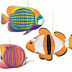 3D Fish Decoration 3pk- Decorations- Under the Sea- Shop by Theme - Party America