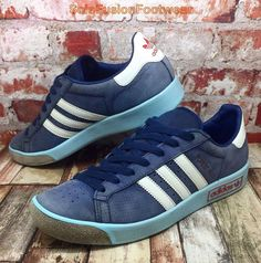 adidas Originals Mens FOREST HILLS Trainers Blue sz 8 Leather Sneakers US 8.5 42  | eBay