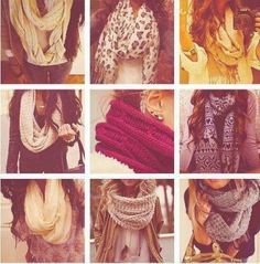 I love scarfs... Have a large collection