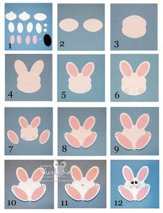 My Ink Pad: Bunny Rabbit Punch Art Instructions