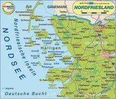 Karte von Nordfriesland (Deutschland, Schleswig-Holstein) - Karte auf Welt-Atlas.de - Atlas der Welt