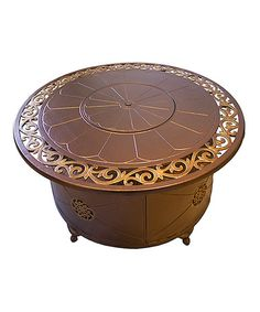 AZ Patio Heaters Cast Aluminum Bronze Propane Fire Pit
