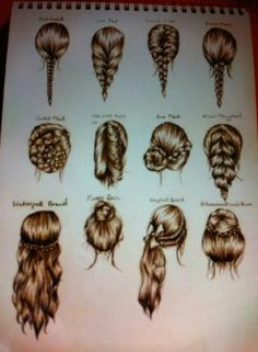 Image in Love hair collection by Laura on We Heart It Easy Hairstyles For Medium Hair, Up Hairstyles, Pretty Hairstyles, Braided Hairstyles, Pinterest Hairstyles, Hair Due, Cheer Hair, How To Draw Hair, Hair Hacks