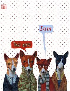 Good dog series: we are. i am. by revolenka, via Flickr. I love that they're basenjis!