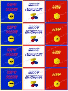 Lego Birthday Digital Party PackPrint Your Own by PrintsBySherrie, $10.00