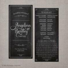 Wedding Program - Vintage Chalkboard