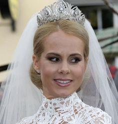 Bride Nadja Anna Zsoeks wed to Prince Alexander zu Schaumburg Lippe at the city church on 30.06.2007 in Bueckeburg, Germany