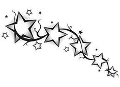 Star Tattoo Designs - The Body is a Canvas Small Star Tattoos, Back Tattoos, Foot Tattoos, Flower Tattoos, Body Art Tattoos, Black Star Tattoo, Best Star Tattoos, Tatoos, Star Tattoo Designs