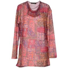 Antik Batik Long Sleeve T-shirt (567.725 IDR) ❤ liked on Polyvore featuring tops, t-shirts, pink, long sleeve tee, pink long sleeve t shirt, long sleeve jersey, red tee and red t shirt