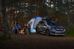 Taking your friends on your next adventure? Bring along a Honda tent and simply let syle and utility take the wheel. #HondaGenuineAccessories #Honda #campfire #tent