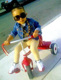 "Little People Swag.......""Don't spill that Ace on my sick Js"".....Too stinkin CUTE!!"