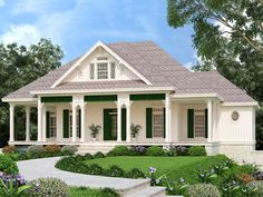 021H-0278: Southern House Plan; 1620 sf Four Bedroom House Plans, Basement House Plans, Ranch House Plans, Ranch Farm House, Southern House Plans, Southern Homes, Southern Style, Country Homes, Country Farmhouse Decor