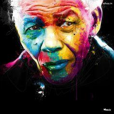 Nelson Mandela Colorful Face Painting