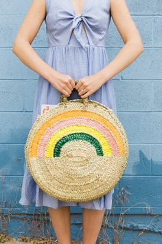 Carry all your goods in this DIY rainbow tote! #diy #craft #handmade
