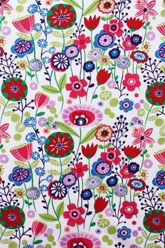 Kaori Floral Indochine Fabric  Bright Floral by spiceberrycottage