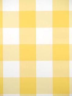 Wall Paper for kitchen pantry. DecoratorsBest - Detail1 - Scalamandre WP88203-003 - Gertrudes Plaid - Yellow Plaid - Wallpaper - single roll DecoratorsBest