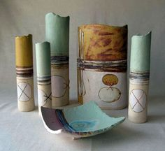 Ceramics by Jayne Lucas at Studiopottery.co.uk - Pts, Vessels and Dishes. Produced in 2007.