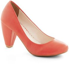Solid Choice Heel in Coral on shopstyle.com
