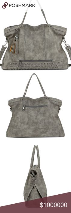 """Pre-Order: Large Alyssa Satchel Vegan Tote Luxury Grade Vegan Leather. Spill resistant Interior.43x14x27 CM. $59. IMPORTANT: The """"Original Price"""" is the estimated price this item will be listed at when available. To reserve comment your size and color (grey or black). Like this listing to be notified of arrival! I strive to offer beautifully unique items! If you like my listings & want to be notified of new listings added to my closet, like my notifications listing and follow me! Xemoda Bags"""