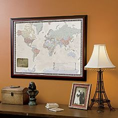 World Traveler Map we can Pin. Great gift for Christmas.