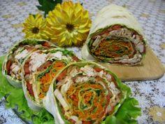Рулет из лаваша с корейской морковкой : Закуски и бутерброды