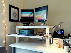 IKEA Standing Desk Hack. The IKEA LACK Coffee Table Desk Is Perfect U2013 It  Fits Photo