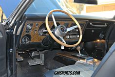 Interior of the 1969 Firebird restored by GM Sports is San Jose. 1969 Firebird, Wrecking Yards, Number Matching, Rear Ended, San Jose, Restoration, Photo Editing, Interior, Sports