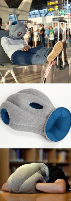 Ostrich Pillow by Kawamura-Ganjavian // Haha... the perfect place to hide for naps! It's a head cover cushion for a quick refresh without being bothered by the outside world #product_design