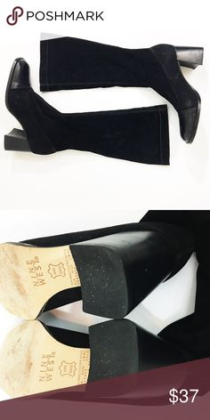 Black Mod Boots Heel Height: 3 inches Material: Leather and Man Made Upper   ✂️Bundle & Save: 10% Off 2 or More Items ❌ No Trades 📬 Shipping within 48 hours Nine West Shoes Heeled Boots