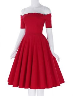 Hearts Will Melt 1950s Vintage Style Swing Dress