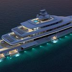Vitruvius and Oceanco together unveiled at the Monaco Yacht Show 2015 the project Acquaintance. Big Yachts, Luxury Yachts, Luxury Boats, Yacht Design, Luxury Yacht Interior, Monaco Yacht Show, Yacht Week, Yacht Builders, Private Yacht
