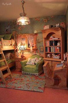 Miniature dollhouse bedroom *the armchair! Miniature Rooms, Miniature Furniture, Doll Furniture, Dollhouse Furniture, Miniature Dollhouse, My New Room, Bedroom Decor, House Design, Interior Design