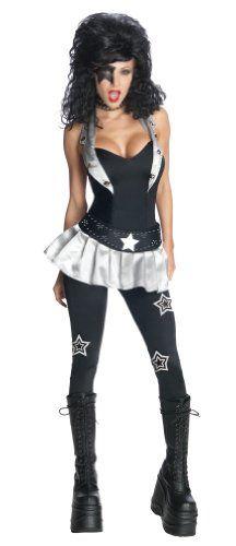 Damen KISS Miss Starchild Kostüm ca 15€ | Kostüm-Idee zu Karneval, Halloween & Fasching