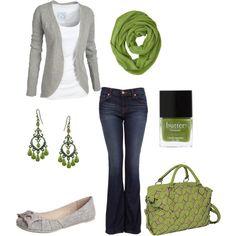 Love the green & gray:)