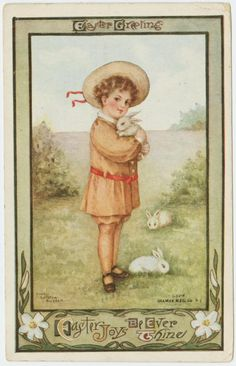 vintage Easter greeting.  [Easter joys be ever thine.] (ca. 1912)