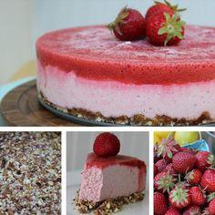 Kind Eats: Frozen Strawberry Lemon Cheesecake - The Kind Life Vegan Treats, Vegan Foods, Vegan Desserts, Raw Food Recipes, Yummy Treats, Delicious Desserts, Sweet Treats, Dessert Recipes, Yummy Food