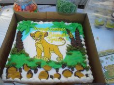 Lion King Baby Shower cake