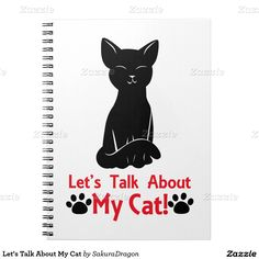 Let's Talk About My Cat Spiral Notebook #cats #kitten #blackcat #pets #animals