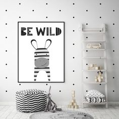 Keep your childs room on trend and under budget with this digital zebra printable! Zebra Nursery, Baby Zebra, Nursery Decor, Nursery Art, Nursery Prints, Nursery Ideas, Wall Prints, Bedroom Ideas, Childrens Room Decor