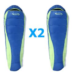 LOT X2 NEW Mummy Sleeping Bag Outdoor Camping Hiking Sleep System w/Carrying Bag