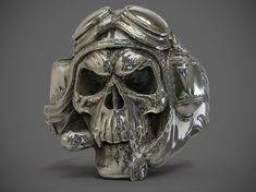 skull ring 01 3d model obj stl 1
