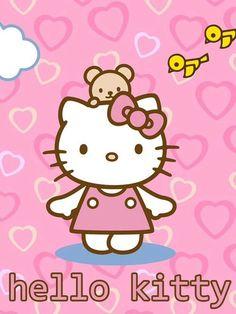 Hello Kitty Holding Balloons