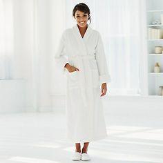 Classic Unisex Cotton Robe - White | The White Company
