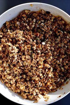 mixing up luxurious homemade granola