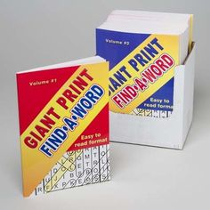 giant print find-a-word book Case of 24