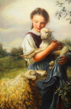 Champs, Old Portraits, Baby Lamb, Lord Is My Shepherd, Cottage Art, When I Grow Up, Renoir, Children Photography, Monet