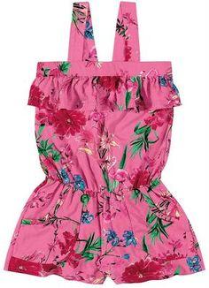 macacão infantil feminino de tecido - Pesquisa Google Baby Girl Fashion, Kids Fashion, Little Girl Dresses, Girls Dresses, Kids Frocks, Girl Closet, Baby Kids Clothes, Girls Rompers, Sewing For Kids