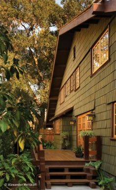 super ideas for exterior paint colora for house with brown roof cottages Exterior Paint Colors For House, Paint Colors For Home, Exterior Colors, Exterior Design, Sage Green House, Brown House, Craftsman Exterior, Cottage Exterior, Craftsman Style