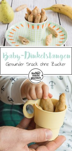 Healthy spelled bars for babies Baking makes you happy - Backen mit Kindern Rezepte - Very simple recipe for healthy snack bars without sugar and egg. The baby bars are a great snack fo - Crockpot Recipes For Kids, Baby Food Recipes, Snack Recipes, La Mastication, Kids Meals, Easy Meals, Healthy Snack Bars, Baby Bar, Baby Snacks
