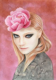 Misha . Pencil, pastel, watercolour and acrylic on paper . 20 x29cm . Beautancia Solo . Thinkspace Gallery, Culver City, US